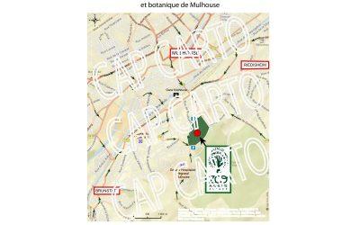 Plan de localisation du zoo de Mulhouse