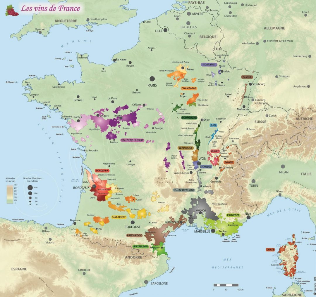 Carte de France des vins