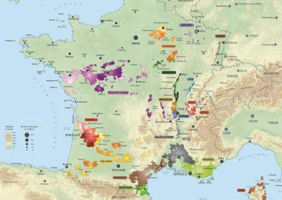 Carte de France des vins