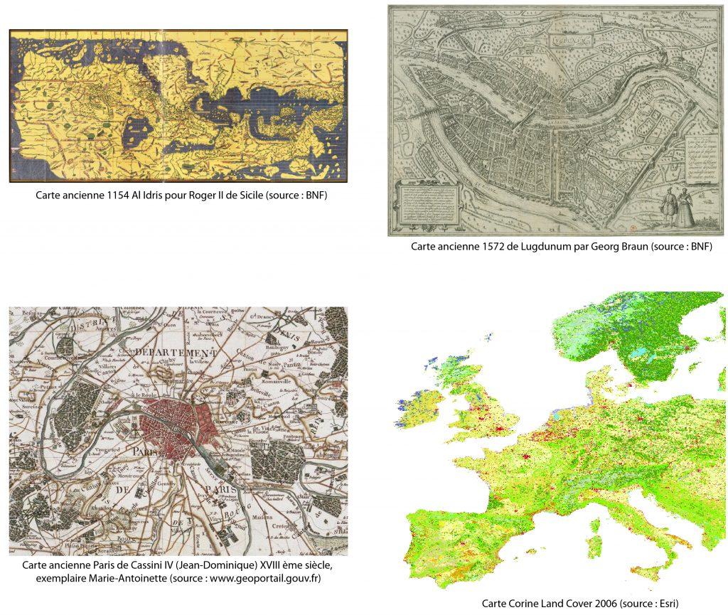 carte ancienne évolution temporelle carte géographique