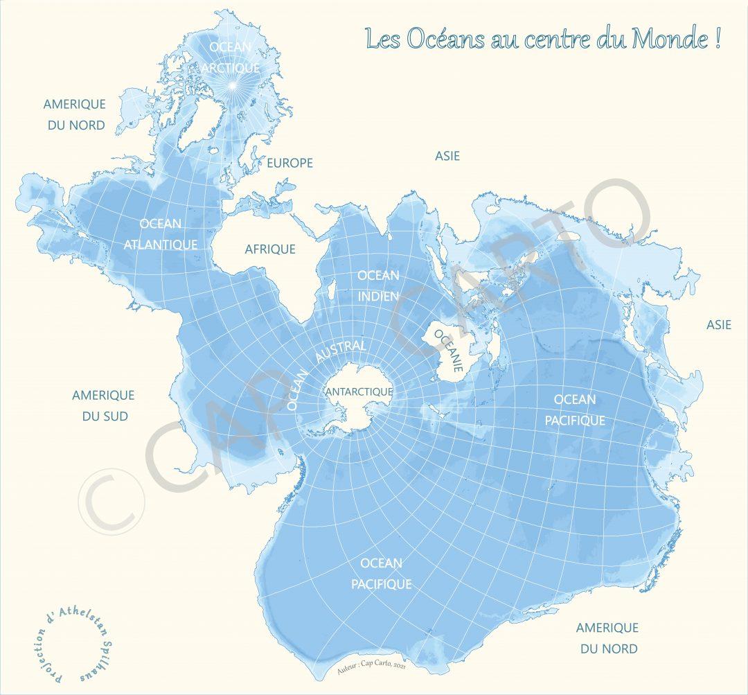 Carte des Océans – Projection Spilhaus